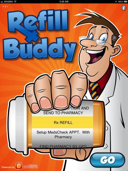 Refill-Buddy-Main-Screen
